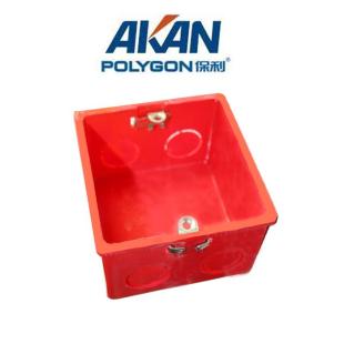 保利电工套管pvc-u阻燃套管配件86型单接线盒